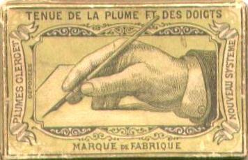 Tenue de la plume et des doigts