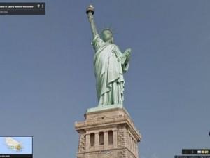 Statue de la liberté floutée