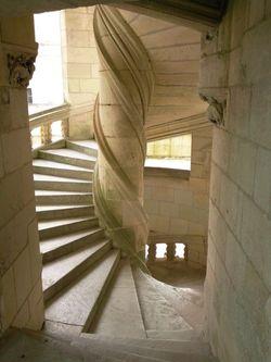 Escalier à vis à Chambord